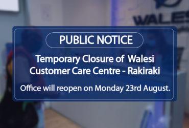 Walesi Public Notice Rakiraki Office Closure-01-01